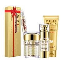 Набор косметический для лица Bioaqua на основе жемчужной эссенции Pure Pearls + сыворотка в подар, КОД: 358032