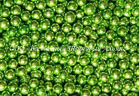 Декоративные жемчужины —  Зелёные Ø5 - 200 г