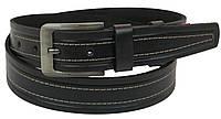 Кожаный ремень Skipper 110-130 x 3.8 см Черный 1092-38, КОД: 390138