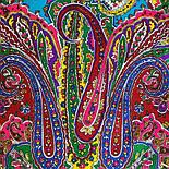 Караван 970-2, павлопосадский платок (шаль) из уплотненной шерсти с шелковой вязанной бахромой, фото 7