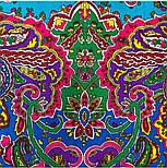 Караван 970-2, павлопосадский платок (шаль) из уплотненной шерсти с шелковой вязанной бахромой, фото 8