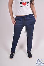 Брюки спортивные женские (55проц. polyester, 45проц. cotton) цв.синий EXUMA 271308 Размер:50