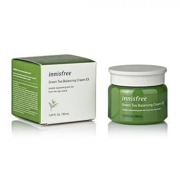 Балансирующий крем с экстрактом зеленого чая Innisfree Green Tea Balancing cream EX (50ml)