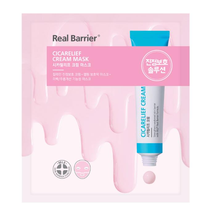 Тканевая крем-маска REAL BARRIER CICARELIEF CREAM MASK, 1 шт- 16г.
