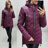 Куртка парка зима (арт. 300) темная вишня / вишневая 48