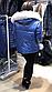 Женская стильная куртка из глянцевой плащевки с натуральным мехом песца, фото 2