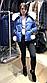 Женская стильная куртка из глянцевой плащевки с натуральным мехом песца, фото 3