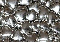 Декоративные жемчужины — Сердца серебрянные