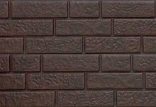Цокольний сайдинг. Фасадна панель Ю-ПЛАСТ Stone House Цегла коричневий. Стоун хаус цегла.Оптом.