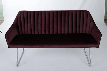 Кресло - банкетка BENAVENTE (1500*610*810 текстиль) гранат, фото 2
