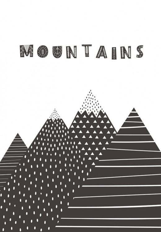 Постер в рамке Mountains 30х40 см
