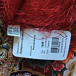 Подарок с ярмарки 1858-5, павлопосадский платок шерстяной  с шелковой бахромой, фото 10