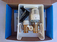 Мультибокс RTL, Клапан (кран) термостатический RTL РТЛ с термоголовкой для контура теплого пола