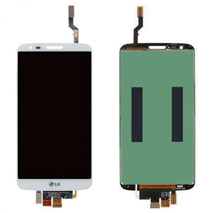 Дисплей (экран) для LG D808 G2 с сенсором (тачскрином) белый Оригинал, фото 2
