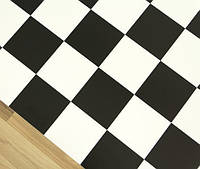 Черно белый линолеум шахматная доска 2500