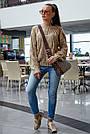 В'язаний светр жіночий кольору кави, р. 42-48, в'язка, фото 3