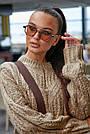 В'язаний светр жіночий кольору кави, р. 42-48, в'язка, фото 2