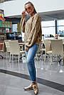 В'язаний светр жіночий кольору кави, р. 42-48, в'язка, фото 5