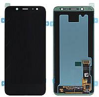 Дисплейный модуль Samsung J600 Galaxy J6 LCD с сенсором черный сервисный GH97-21931A
