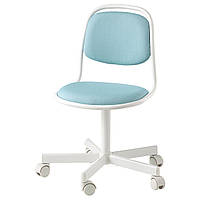 IKEA ORFJALL (604.417.79) Детский офисный стул, белый, Vissle ярко-синий