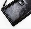 Бумажник, портмоне, кошелек, клатч с ремешком на запястье, черный цвет