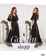 Черное платье в греческом стиле