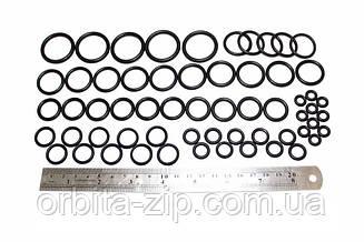 Набор механика маслобензостойких резиновых колец №2 (60штук) (D=6mm-D=26mm) арт.2706
