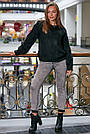 Свитер чёрный женский, р.42-48, вязка, фото 3