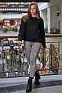 Свитер чёрный женский, р.42-48, вязка, фото 4