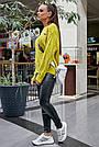Свитер молодёжный женский цвета горчица, р.42-48, вязка, фото 5