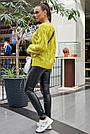 Свитер молодёжный женский цвета горчица, р.42-48, вязка, фото 6