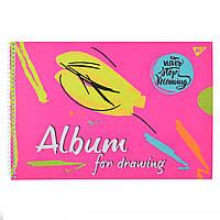 """Альбом для малювання А4 30л / 100 """"Paint brush"""" на спіралі мат.лам + неон + софт-тач YES   (уп. 3 шт.)"""
