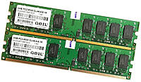Пара оперативной памяти GeIL DDR2 4Gb (2Gb+2Gb) 1066MHz PC2 8500U 2R8 CL6 (GG24GB1066C6DC) Б/У, фото 1