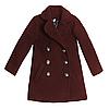 Пальто барашек р 122-134 (бордовый) для девочки