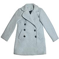 Пальто барашек р 140-152 (Светло-серый) для девочки