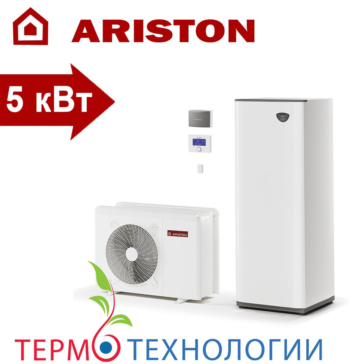 Тепловой насос воздух-вода Ariston compact 5 кВт + гидравлический модуль и бак на 180 л