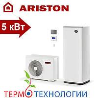 Тепловой насос воздух-вода Ariston compact 5 кВт + гидравлический модуль и бак на 180 л, фото 1