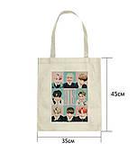 Эко-сумка с принтом БТС (BTS) (5)