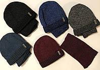 Зимний комплект (шапка+хомут) р.52-54