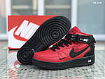 Мужские зимние кроссовки Nike Air Force 1 LV8 High (красно-черные), фото 2