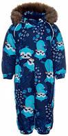 Комбинезон зимний для малышей Keira, Huppa, темно-синий с принтом (68) (31920030-93486-068)