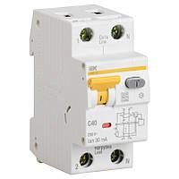 Дифференциальный автоматический выключатель IEK АВДТ32 C16  30мА тип С 16А 2 полюсный