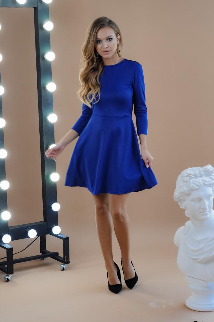 """Нарядное приталенное платье-мини """"SHIREN"""" с открытой спиной (3 цвета)"""