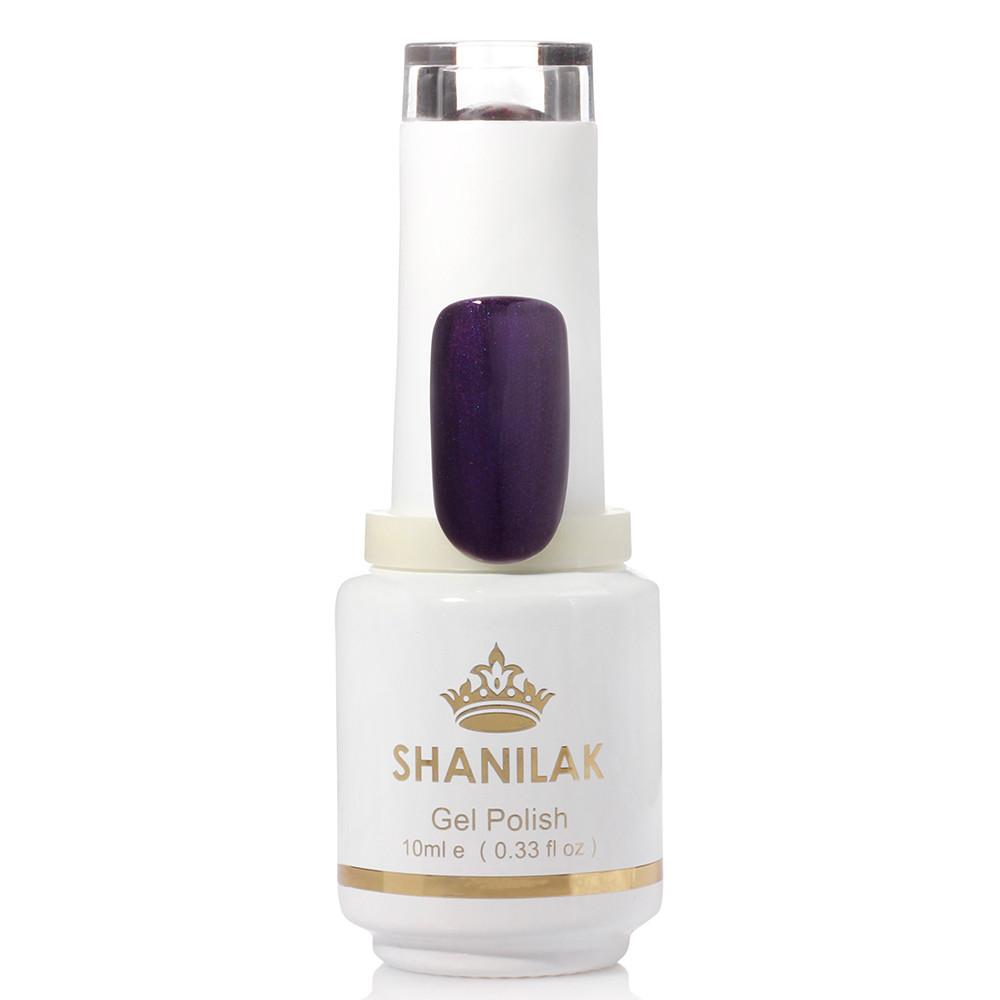 Shanilak Гель-лак 27 сливово-фиолетовый с шиммером 10 мл