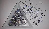 Звездочки - 3 мм. 200 шт. Цвет серебро голограмма, для декора.