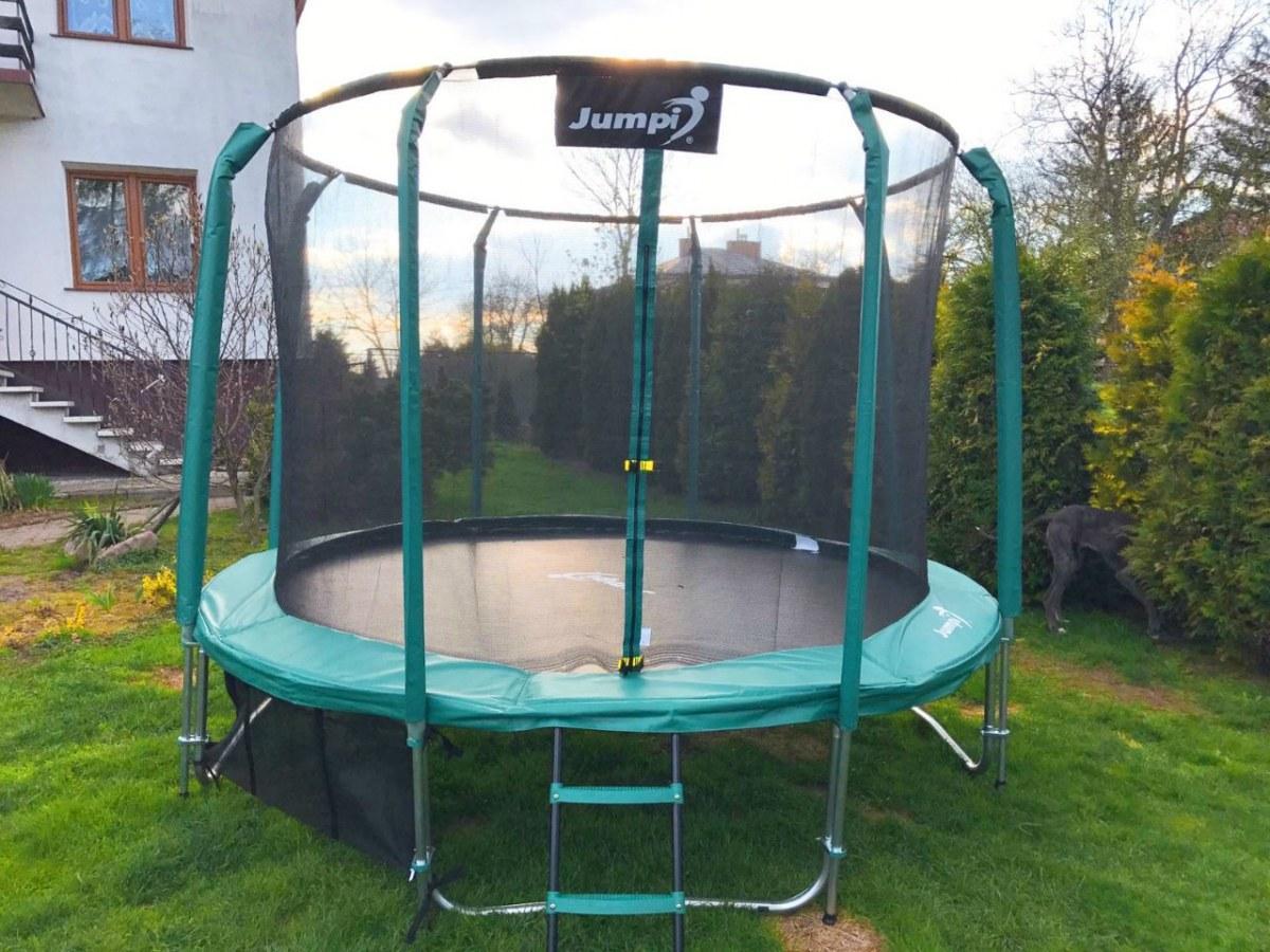 Батут Maxy Comfort Jumpi 8FT 250/252 см. зеленый, внутр. сетка!