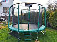 Батут Maxy Comfort Jumpi 8FT 250/252 см. зеленый, внутр. сетка!, фото 1
