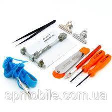 Монтажный столик с набором инструментов JAKEMY JM-1102 (подпружиненный держатель, лопатка с роликом, пинцет,