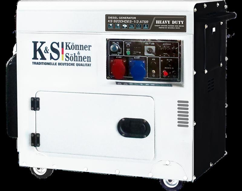 Генератор дизельный Konner & Sohnen KS 9200HDES-1/3 ATSR