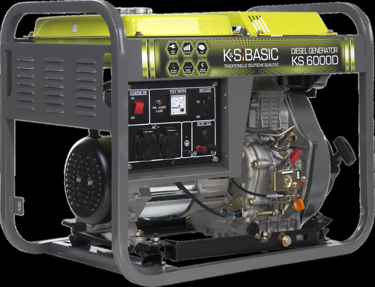 Генератор дизельный Konner&Sohnen Basic KS 6000D